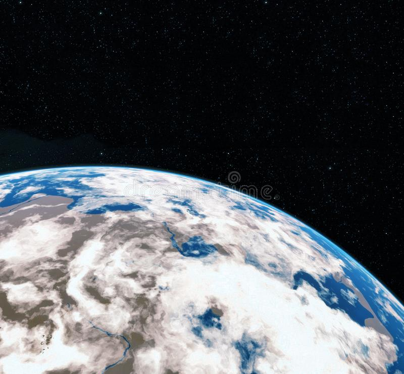 3D Rendering World Globe from Space. Earth. View of Earth From Space. Elements of this image furnished by NASA stock illustration