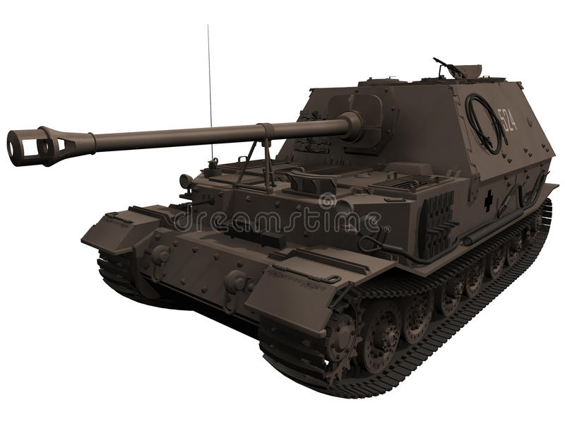 Download 3d Rendering Of A World War 2 Era Elefant Tank Stock Illustration - Image: 32083814