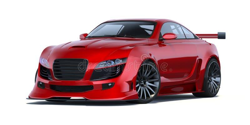 3D-renderingskoncept för bil royaltyfri illustrationer