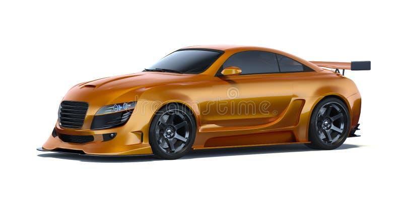 3D-renderingskoncept för bil stock illustrationer