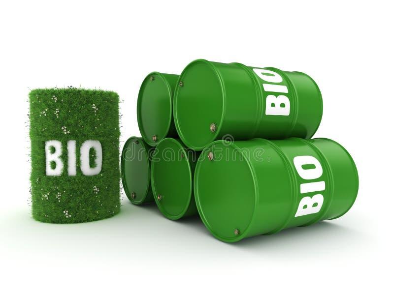 3D renderingu baryłka biofuels ilustracji