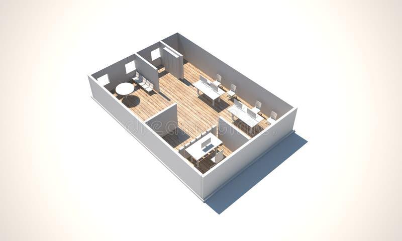 3d renderingu biuro ilustracji