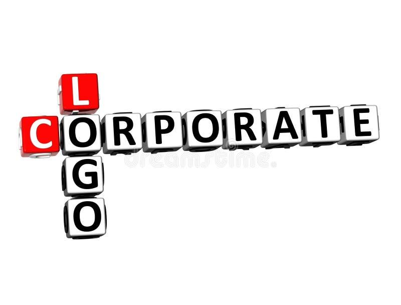 3D renderingu Crossword loga Korporacyjny słowo Nad Białym tłem zdjęcia royalty free