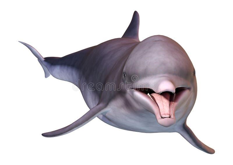 3D renderingu delfin na bielu royalty ilustracja