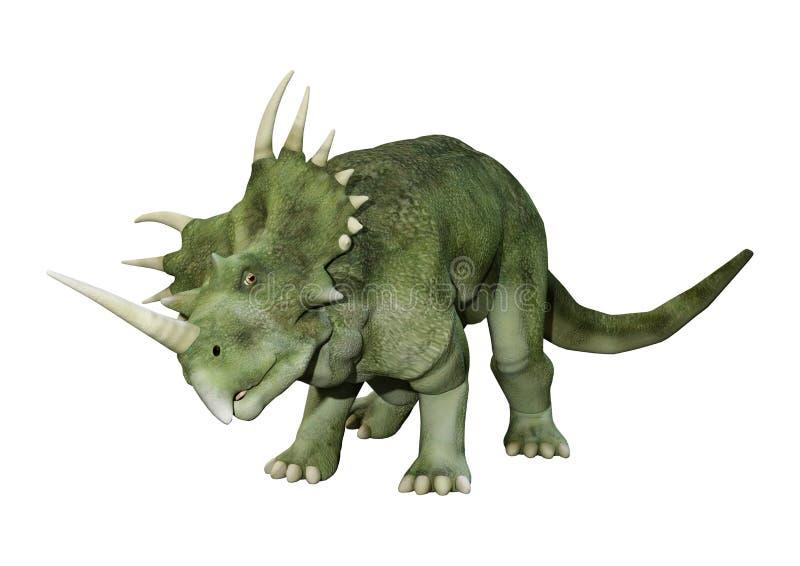 3D renderingu dinosaura Styracosaurus na bielu ilustracji