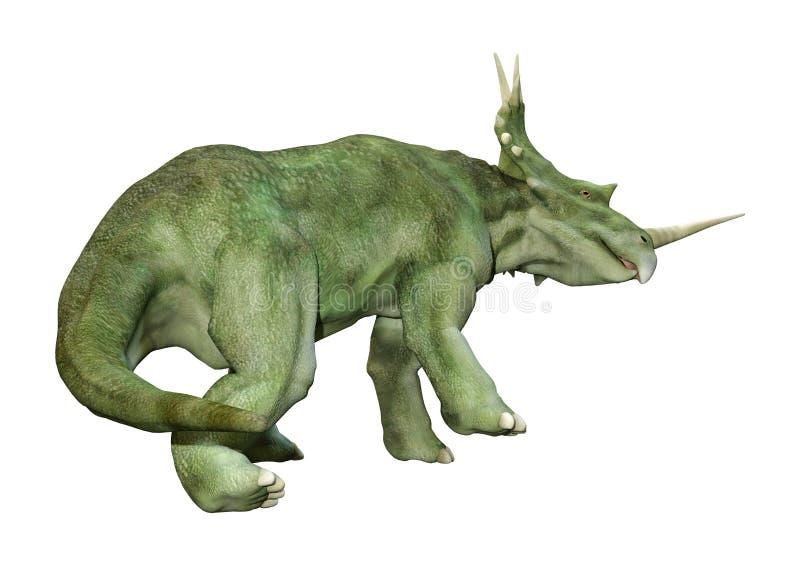 3D renderingu dinosaura Styracosaurus na bielu royalty ilustracja
