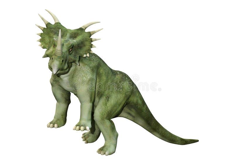 3D renderingu dinosaura Styracosaurus na bielu ilustracja wektor