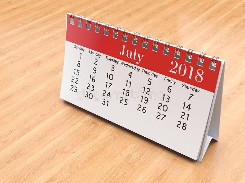 3D renderingu kalendarz zdjęcia stock