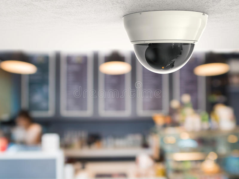 3d renderingu kamera bezpieczeństwa lub cctv kamera obrazy stock