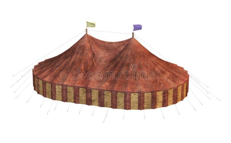 3D renderingu Karnawałowy namiot na bielu ilustracja wektor