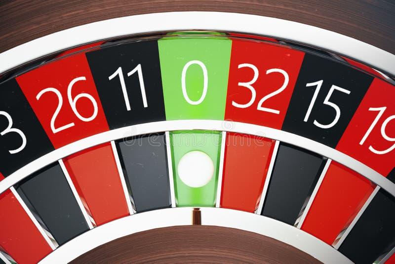 3D renderingu Kasynowy Ruletowy pojęcie Uprawiać hazard stołowy w luksusowym kasynie Kasynowa Ruletowa gra zdjęcia stock