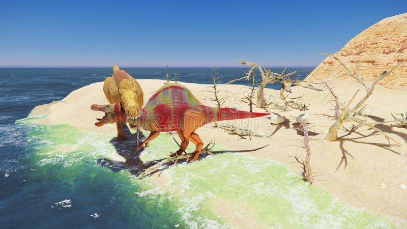 3D renderingu scena gigantyczny dinosaur ilustracji