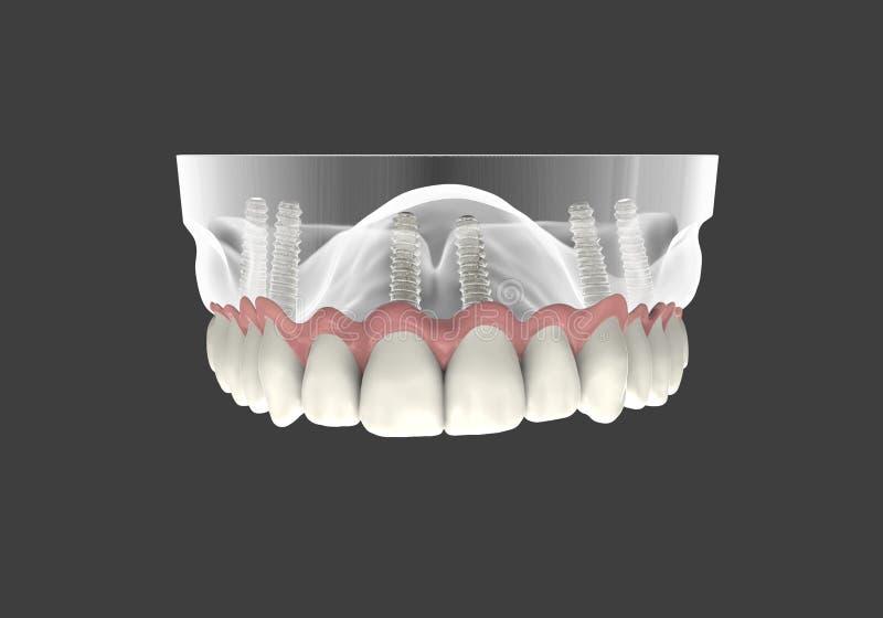 3D renderingu zęby ilustracja wektor