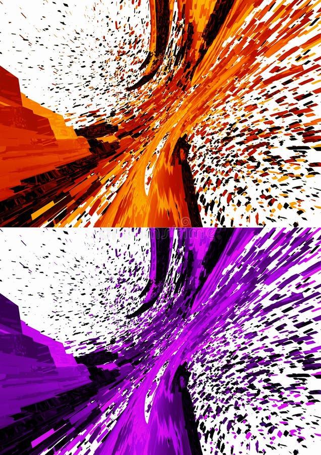 3D rendeu fundos abstratos ilustração royalty free