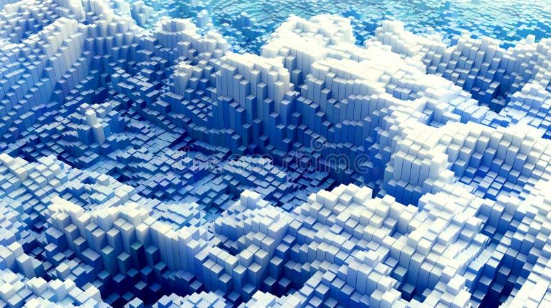 3D rendeu paisagens ilustração royalty free