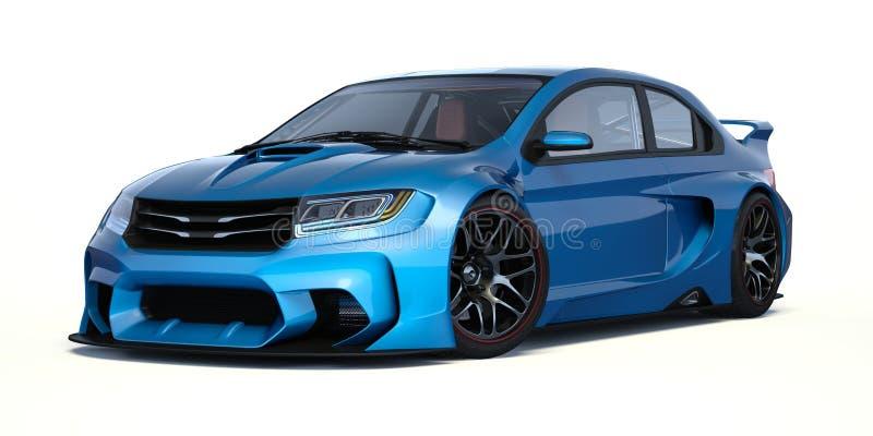 3D rendição - carro genérico do conceito foto de stock