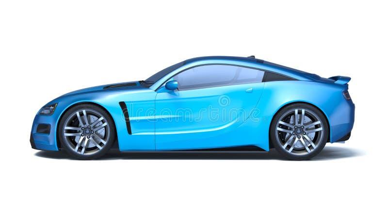 3D rendição - carro genérico do conceito imagens de stock royalty free
