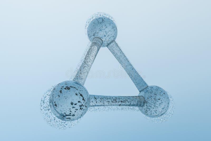 3d rendição, fórmula química azul com efeitos da partícula ilustração do vetor