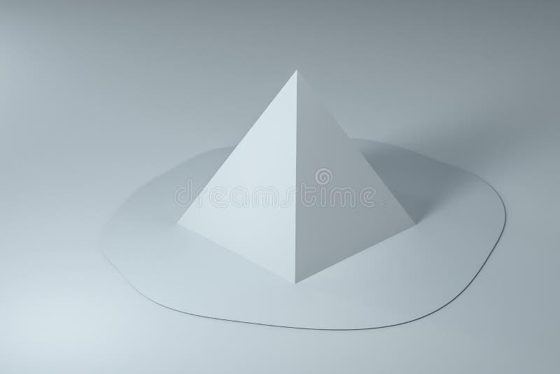 3d rendição, geometria derretida criativa com fundo branco imagens de stock