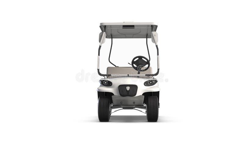 3D rendono del carretto di golf isolato su fondo bianco royalty illustrazione gratis