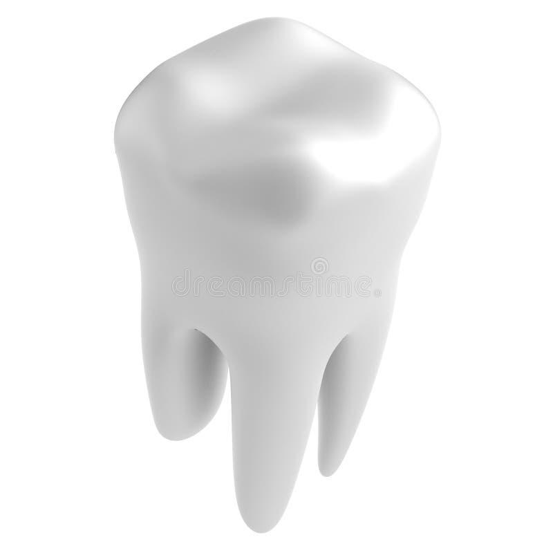 3d rendono del dente illustrazione vettoriale