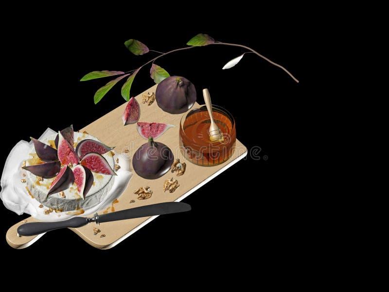 3d rendono del tavolo da cucina illustrazione di stock