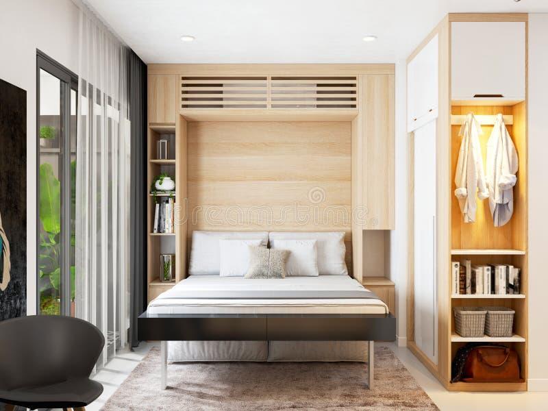 3d rendono della camera da letto illustrazione di stock