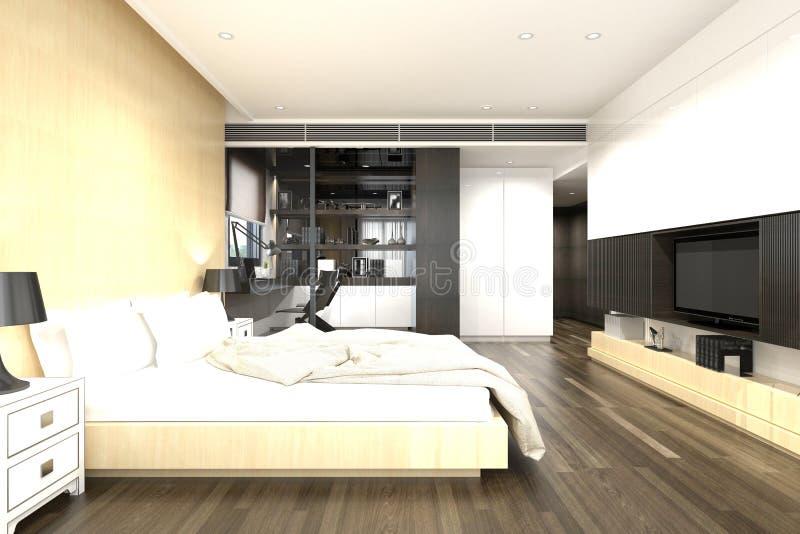 3d rendono della camera da letto illustrazione vettoriale