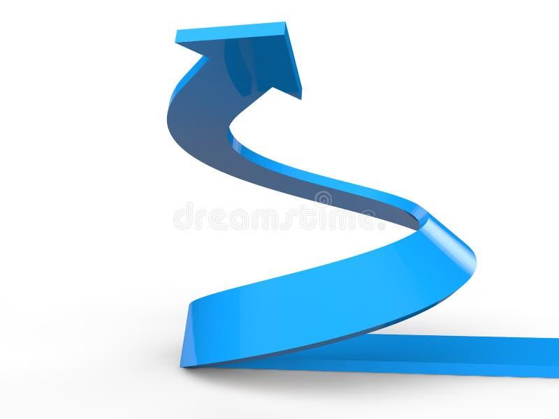Download 3D Rendono Della Freccia A Spirale In Aumento Illustrazione di Stock - Illustrazione di vendita, curva: 55360810