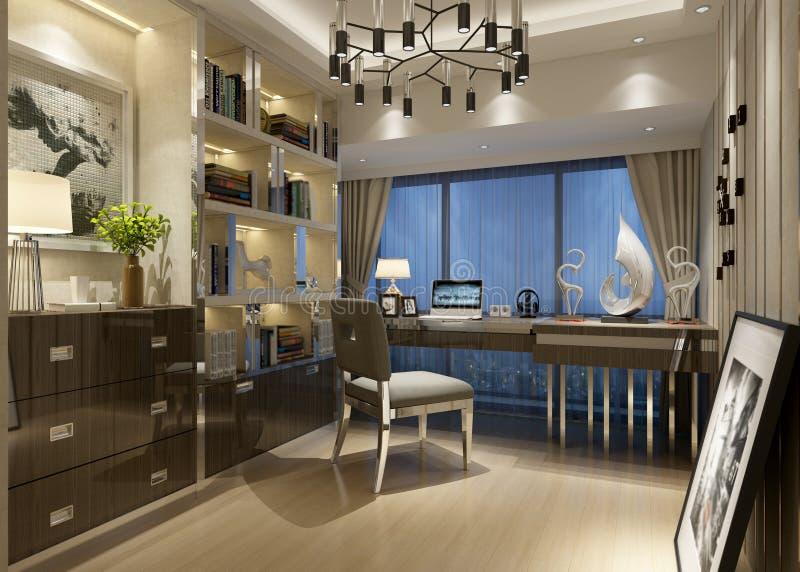 3d rendono della stanza di funzionamento di lusso royalty illustrazione gratis