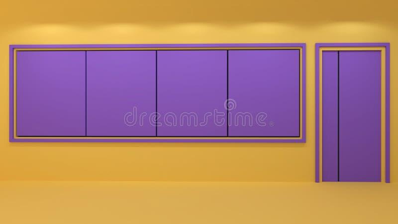3d rendono delle aule e dello spazio in bianco royalty illustrazione gratis