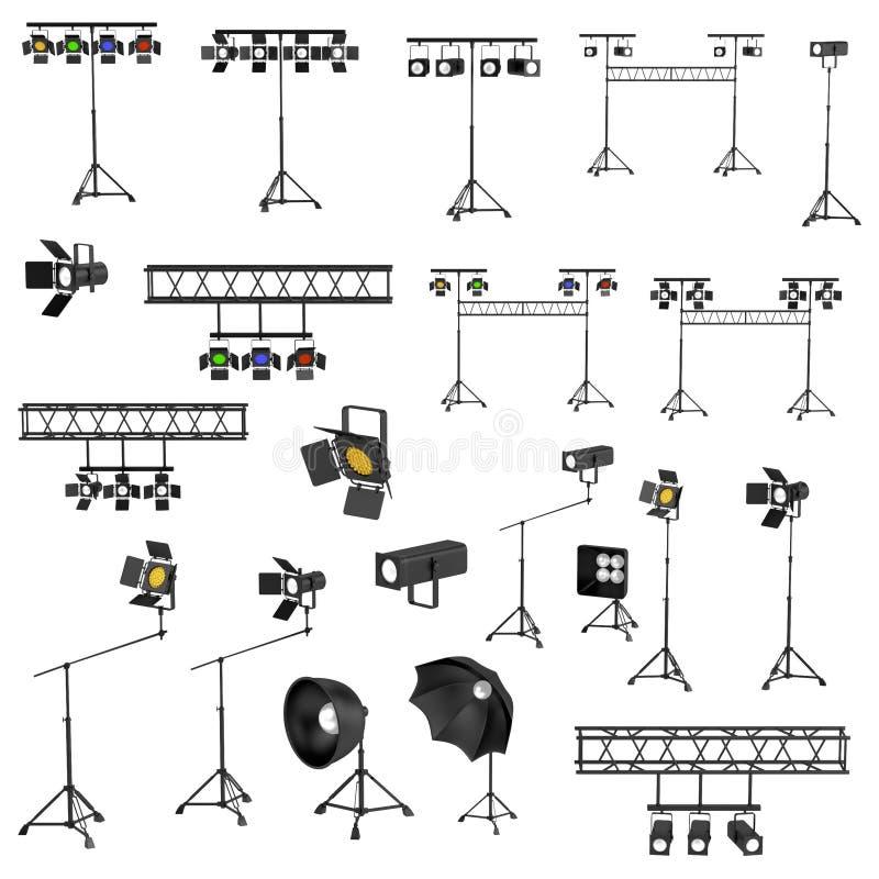 3d rendono delle luci della fase royalty illustrazione gratis