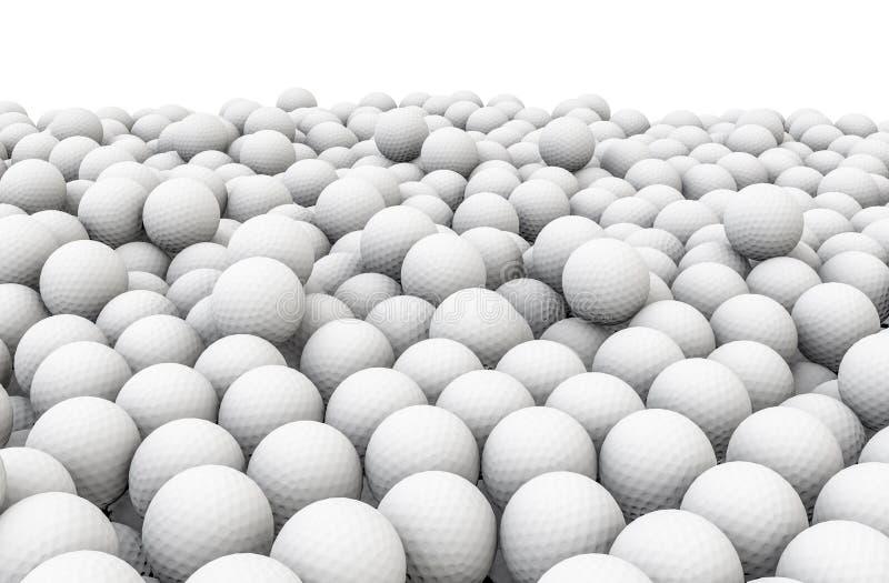 Mucchio delle palle da golf royalty illustrazione gratis