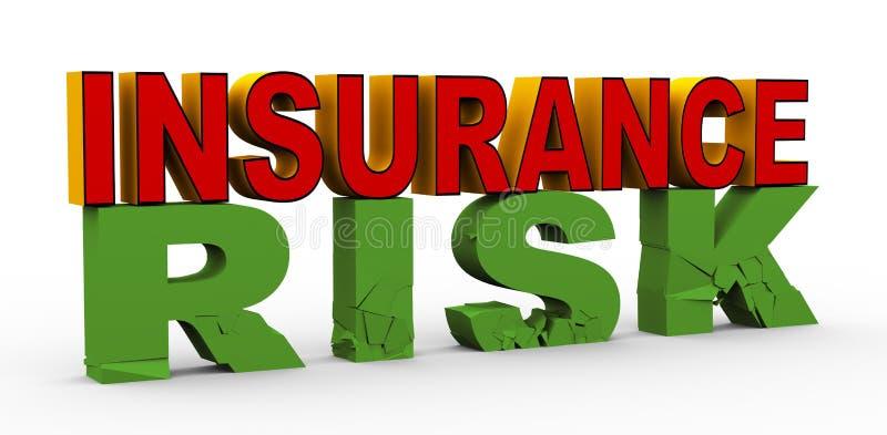 assicurazione 3d sopra il rischio illustrazione vettoriale