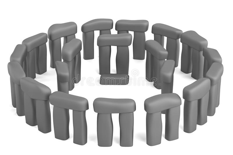 3d rendono di stonehenge illustrazione vettoriale