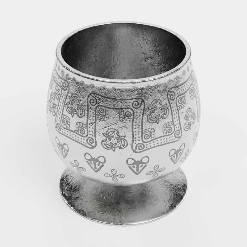 3D rendono di Viking Cup illustrazione di stock