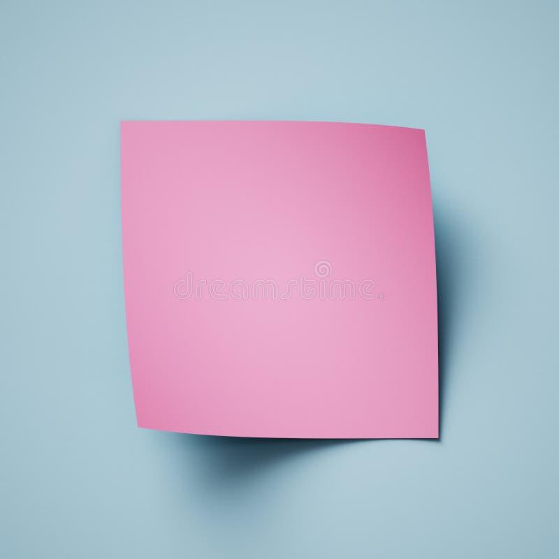 3d rendono, fondo di carta astratto blu rosa, ricciolo della pagina, angolo arricciato, modello moderno creativo dell'insegna, el fotografia stock