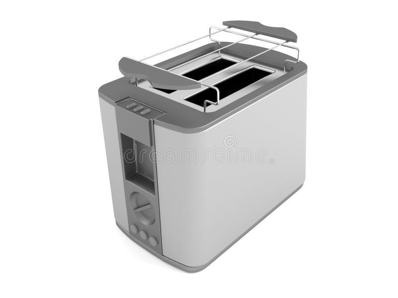 3d rendono il tostapane grigio isolato illustrazione di stock