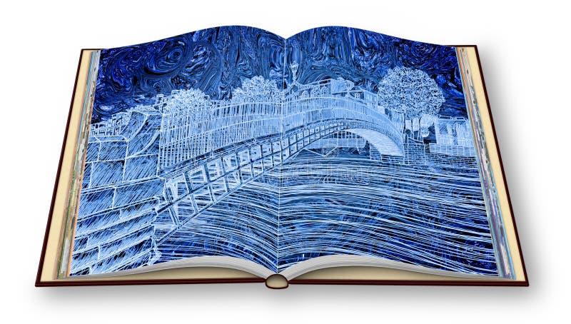 - 3D rendono l'immagine di concetto di un libro aperto della foto isolato su bianco- io sono il titolare dei diritti d'autore del illustrazione vettoriale