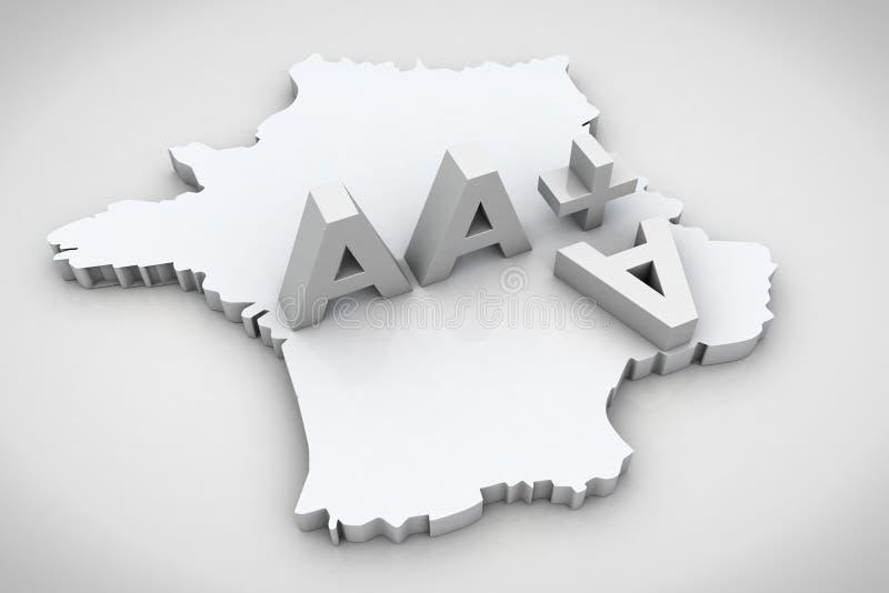 3D rendono la notazione di credito finanziario del AAA del testo immagini stock