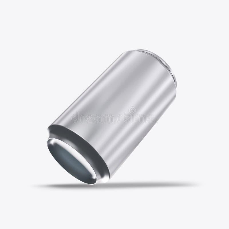 3D rendono le latte del metallo su un fondo bianco illustrazione vettoriale