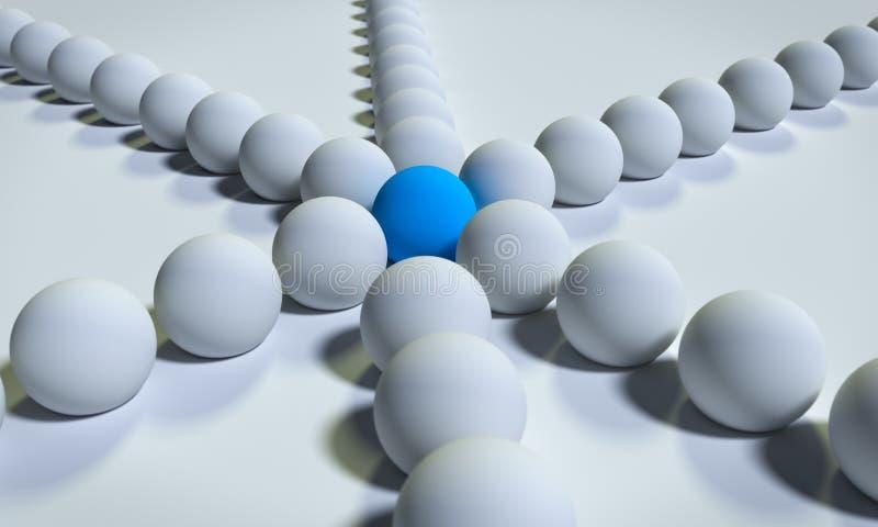 3D a rendu des billes illustration de vecteur