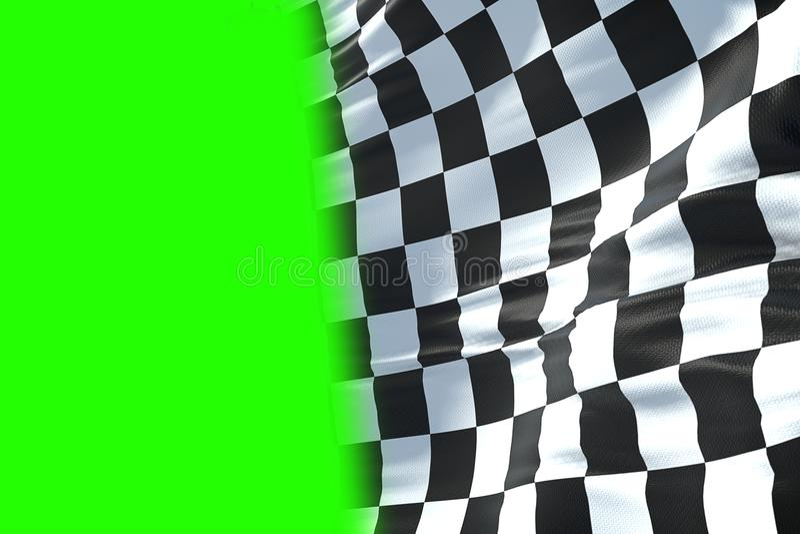 3D rendu, drapeau à carreaux, fond de course d'extrémité, Formule 1 c illustration stock