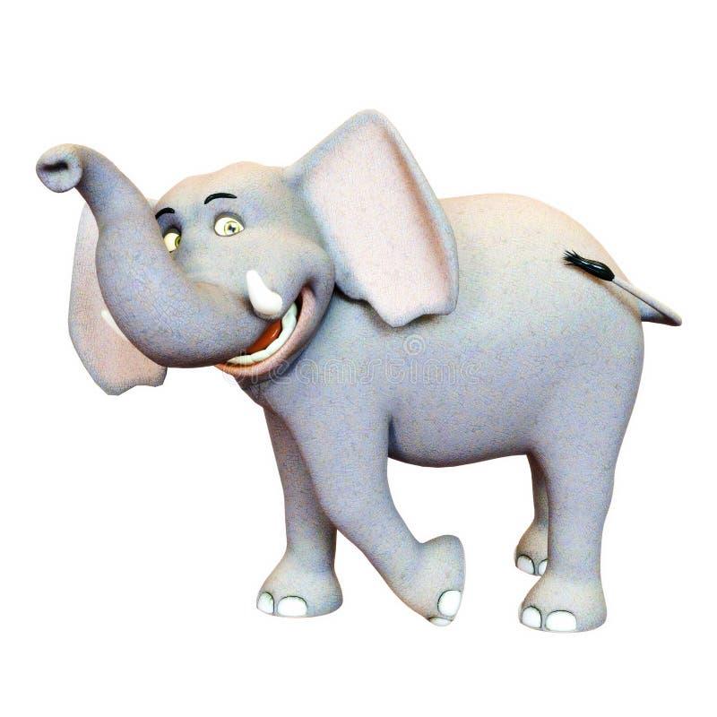3d a rendu l'illustration du sourire d'éléphant illustration stock