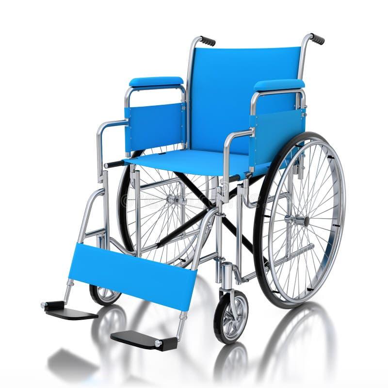 fauteuil roulant 3d bleu sur le fond blanc illustration de vecteur