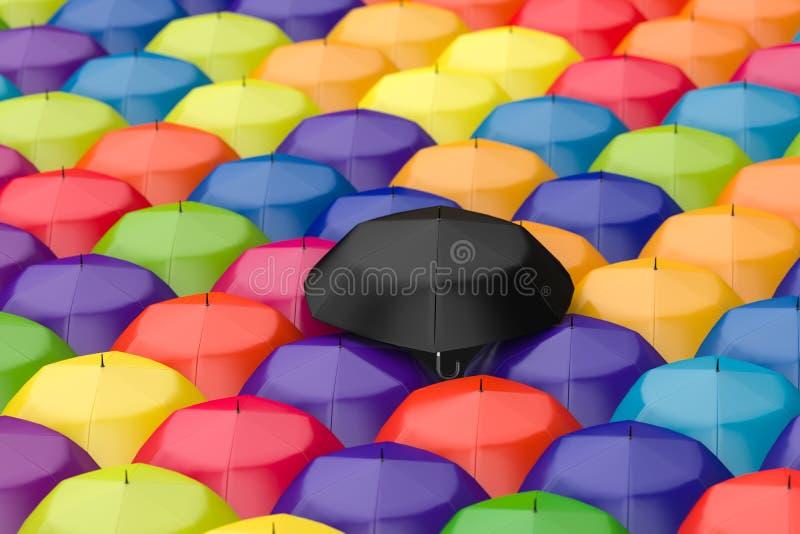 3d rendu, le parapluie avec le fond blanc illustration stock