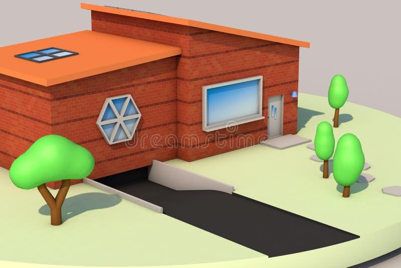 3d rendu, mini maison illustration libre de droits