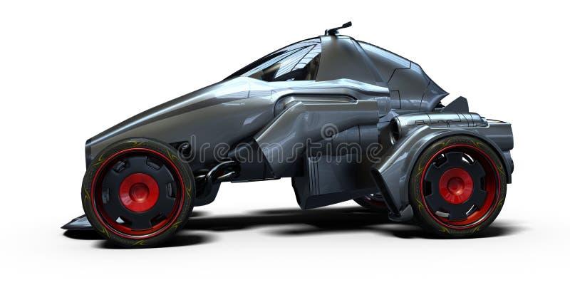 3D rendu - voiture générique de concept illustration libre de droits
