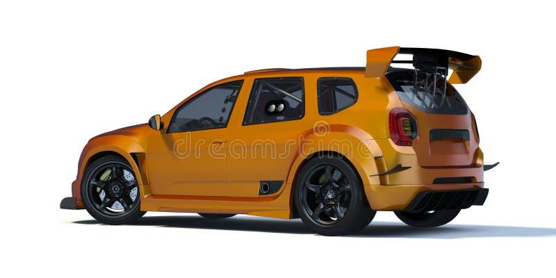 3D rendu - voiture générique de concept illustration stock