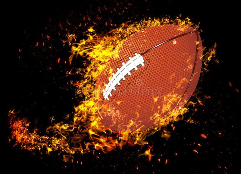 3D representación, fútbol americano, fotografía de archivo